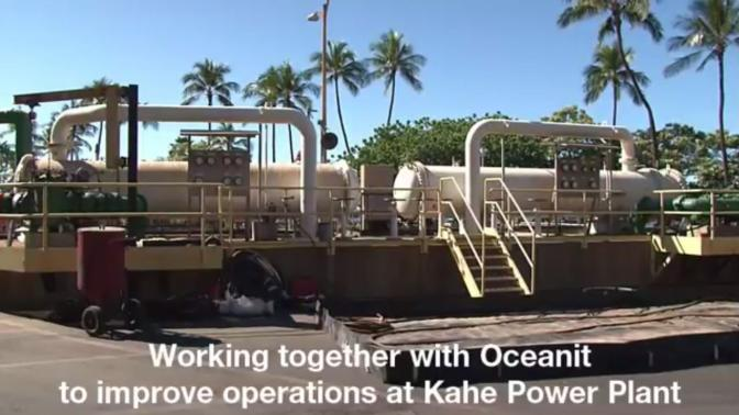 working with oceanit to improve opeartions at kahe power plant