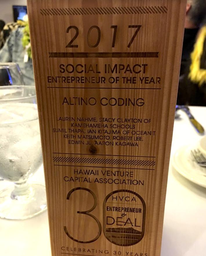 hvca award social entrepreneur award