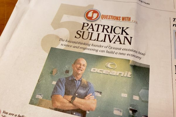 Questions with Oceanit's Patrick Sullivan